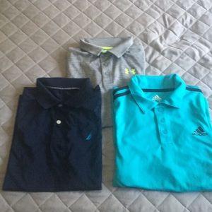 Boys golf shirts size L (14/16)